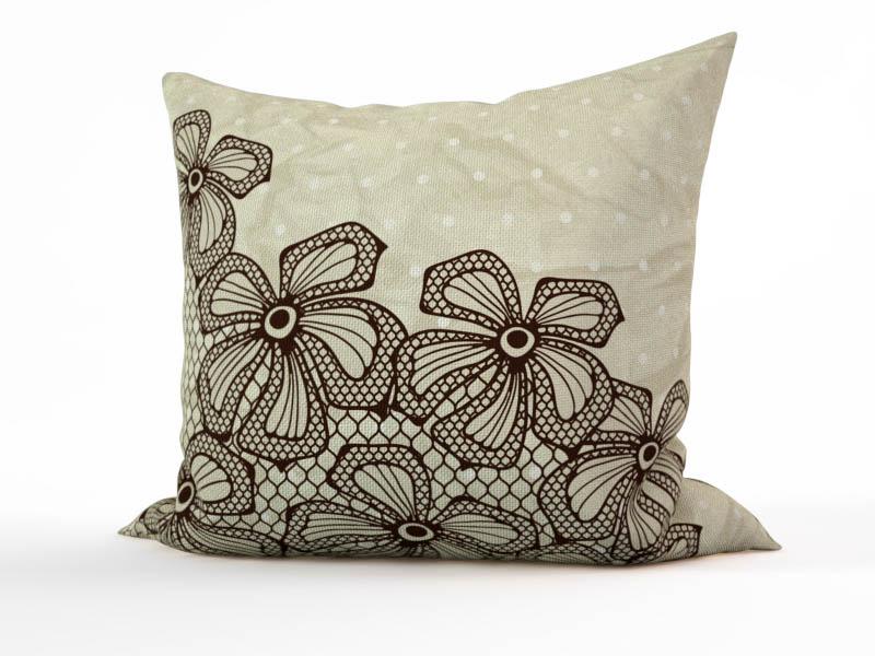 Декоративные подушки StickButik Декоративная подушка Кружевные Цветы  (45х45)