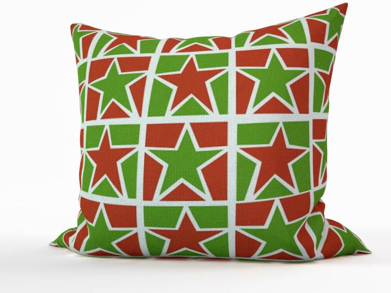 Декоративные подушки StickButik Декоративная подушка Рождественские Звезды (45х45)