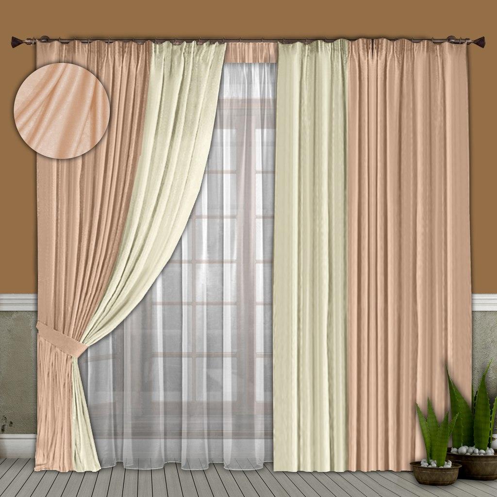 Шторы РеалТекс Классические шторы Alberta Цвет: Бледно-Розовый, Молочный шторы реалтекс классические шторы alberta цвет персиковый молочный