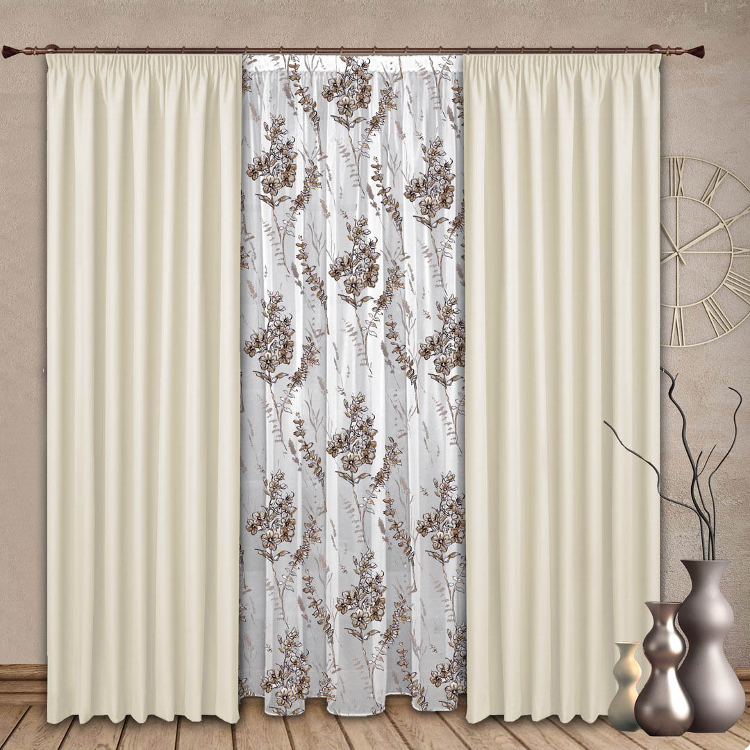 Шторы РеалТекс Классические шторы Marshall Цвет: Молочный шторы реалтекс классические шторы alberta цвет персиковый молочный