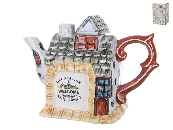 {} ENS GROUP Заварочный чайник Дом, Милый Дом (11х15х21 см) ens group банка для сыпучих дом милый дом 8х9х10 см