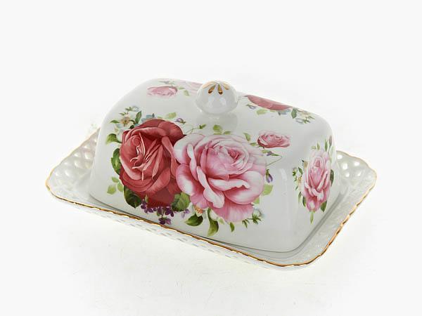 {} Best Home Porcelain Масленка Marika (7х12х17 см) торговый дом ника 2154 mr 12 масленка 20х15х11 см