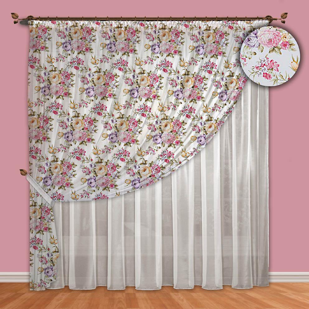 Шторы РеалТекс Классические шторы Aherne Цвет: Фиолетовый шторы primavera классические шторы maev цвет персиковый