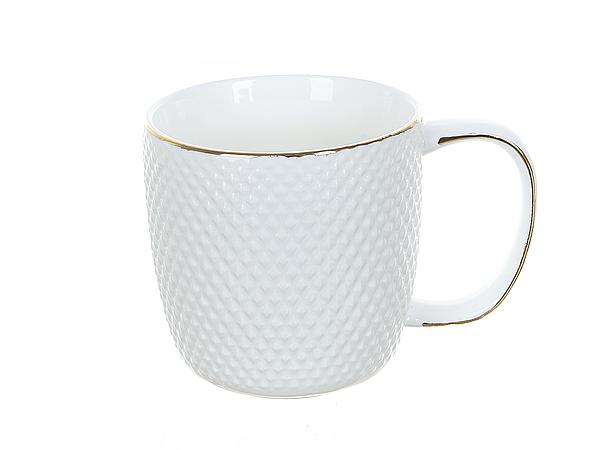 {} Best Home Porcelain Кружка Белый Кварц (320 мл) кружка amber porcelain орнамент цвет белый черный 220 мл
