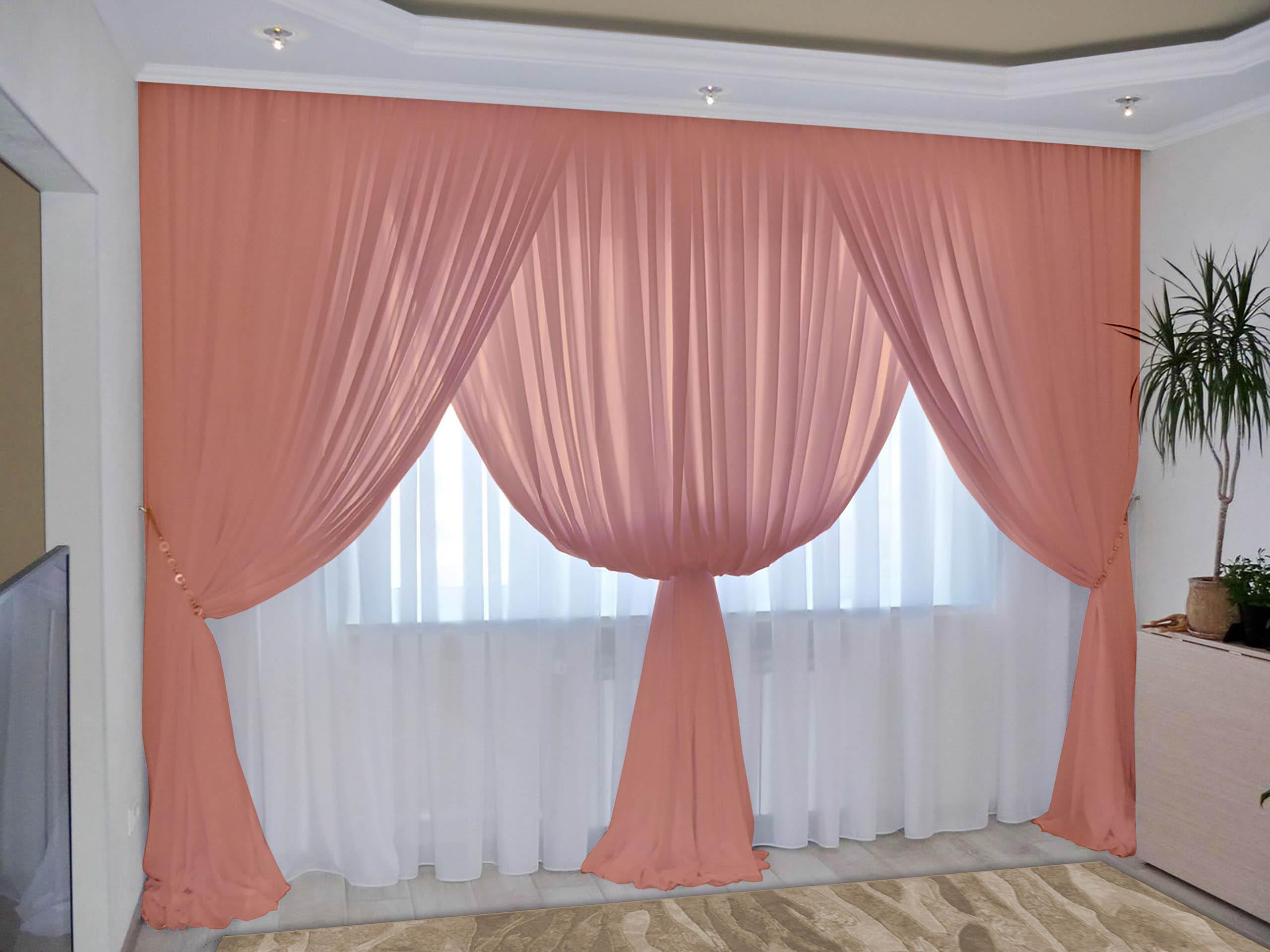 Шторы РеалТекс Классические шторы Augustine Цвет: Персик шторы реалтекс классические шторы alberta цвет персиковый молочный