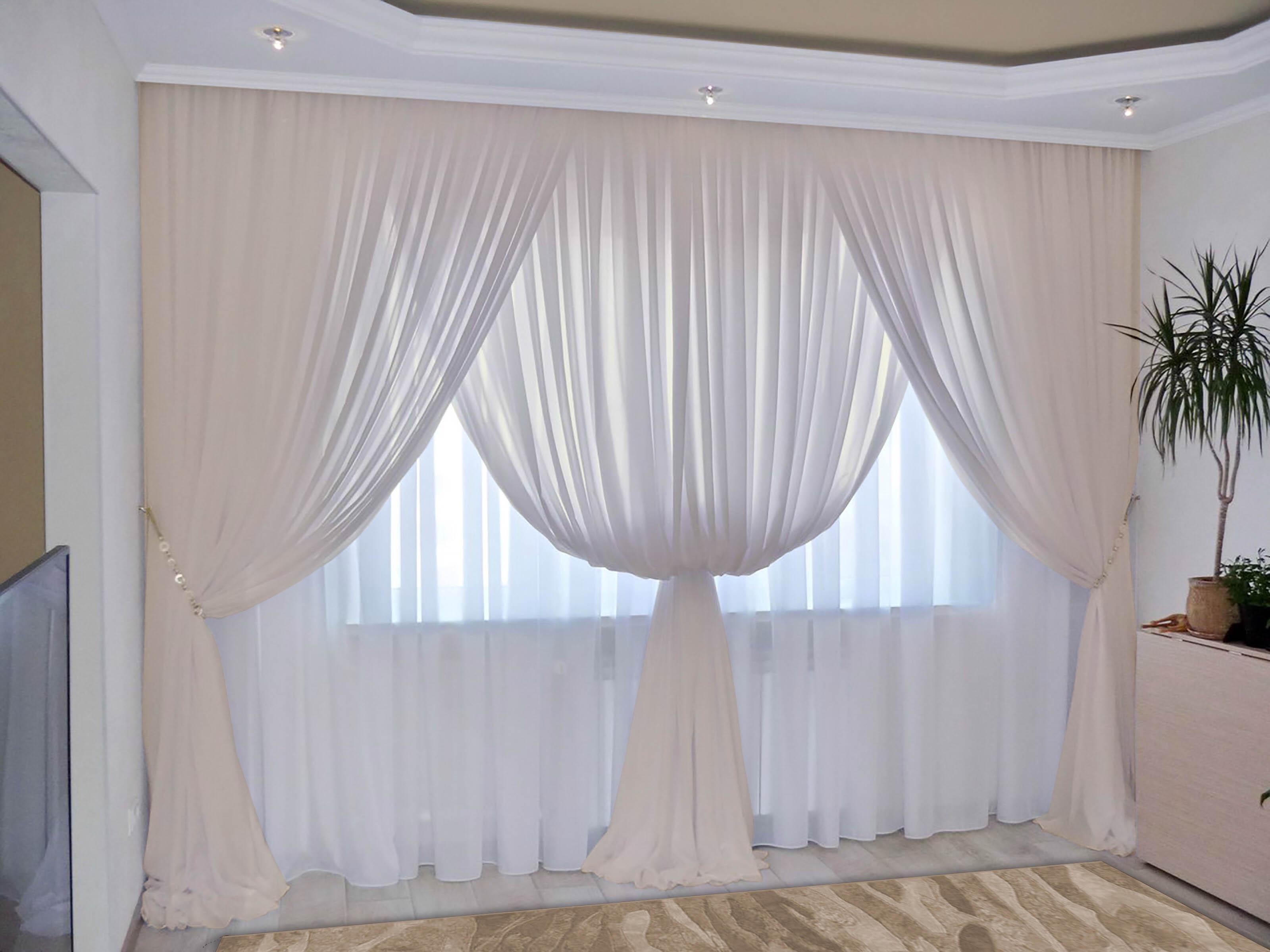 Шторы РеалТекс Классические шторы Augustine Цвет: Шампань шторы реалтекс классические шторы alberta цвет персиковый молочный