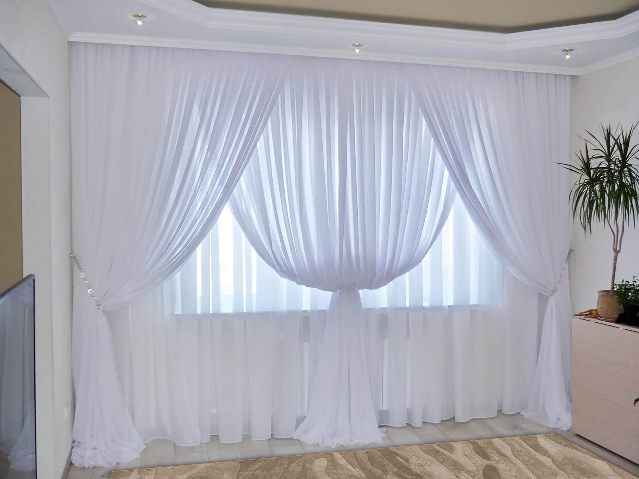 Шторы РеалТекс Классические шторы Augustine Цвет: Белый шторы реалтекс классические шторы alberta цвет персиковый молочный