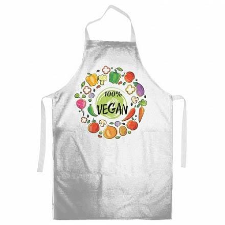 {} StickButik Фартук Vegan (62х90 см) afro vegan