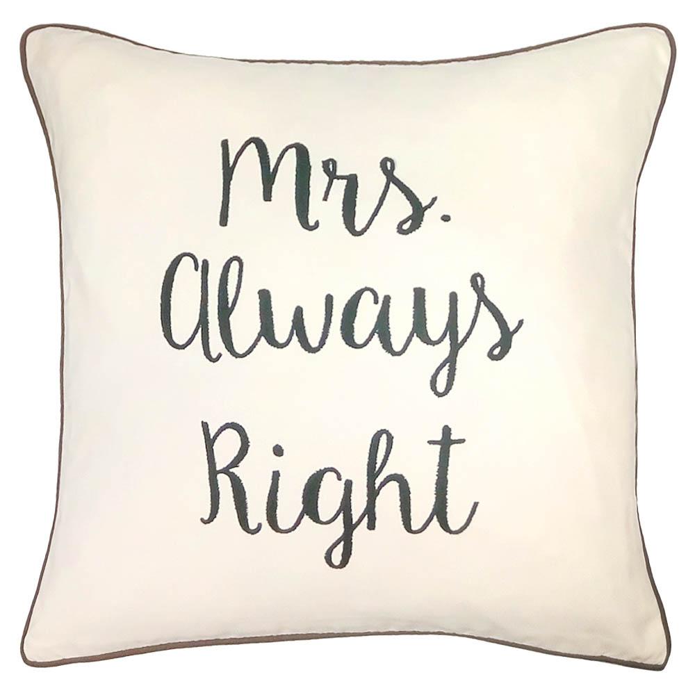 где купить Декоративные подушки Apolena Декоративная подушка Mrs. Always Right (43х43) по лучшей цене