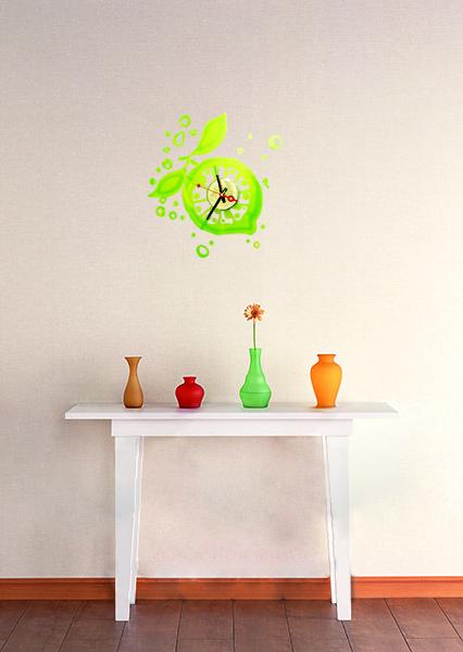 {} HomeDeco Часы Лайм (60х60 см) полотенцесушитель ника mix 60х60 водяной вираж 60 60