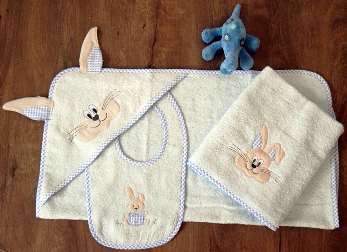 Полотенца Arya Детское полотенце Rabbit With Ears Цвет: Голубой (0-2 года)