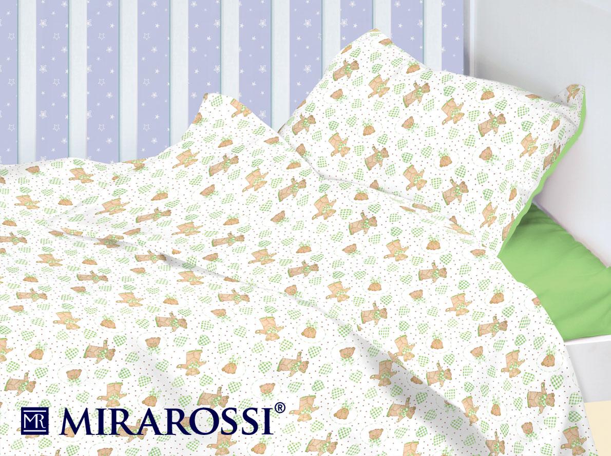 Детское Постельное белье MIRAROSSI Детское Постельное белье Orsetto Цвет: Зеленый (115х147 см)
