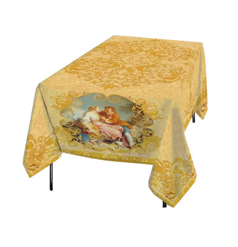 Скатерти и салфетки Elegante Скатерть Аморе Цвет: Золотой (120х150 см) скатерти и салфетки elegante скатерть улыбка 120х150 см