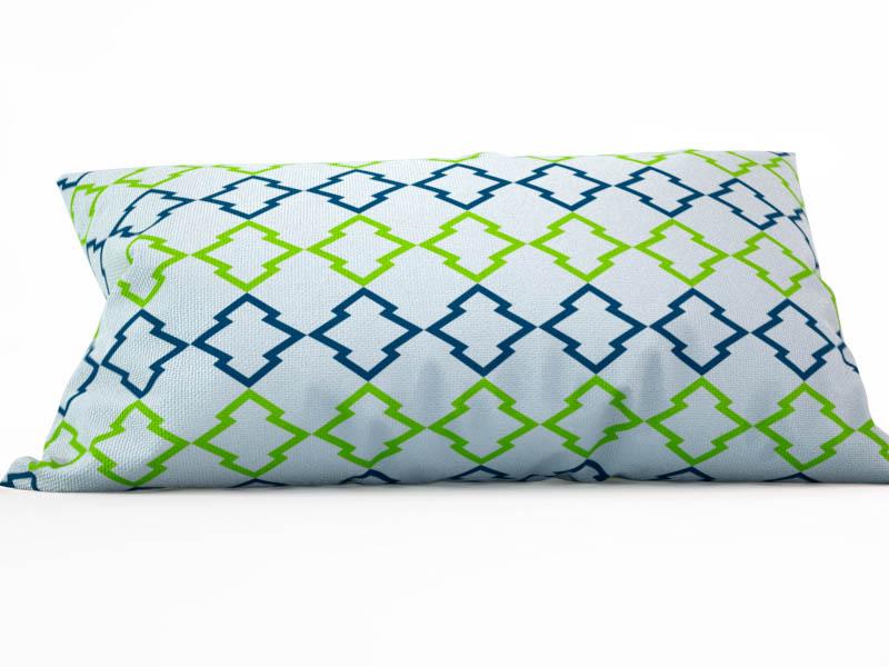 Декоративные подушки StickButik Декоративная подушка Зеленый Орнамент (25х45) бусы авантюрин зеленый 45 см