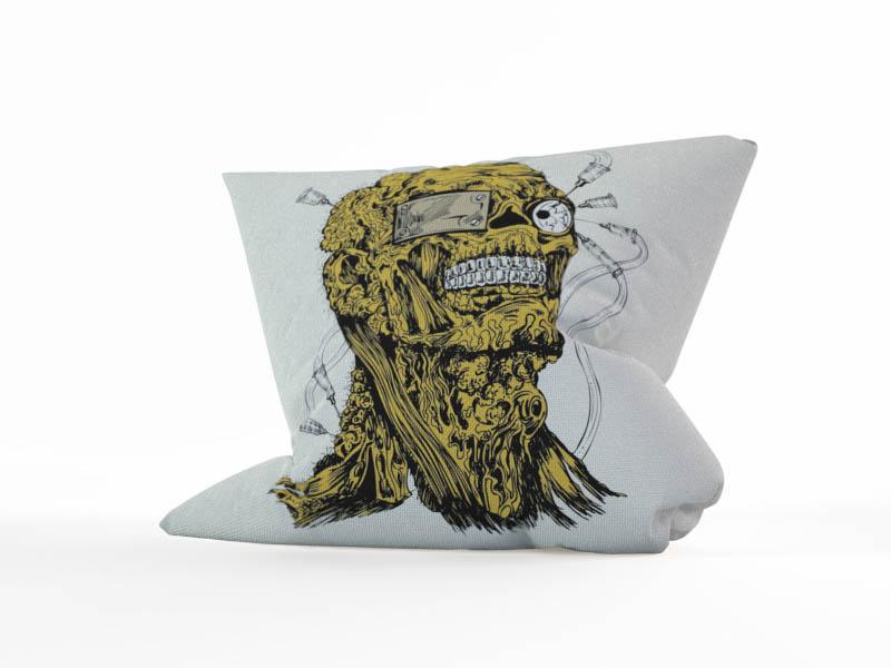 Декоративные подушки StickButik Декоративная подушка Бедный Зомби (45х45)