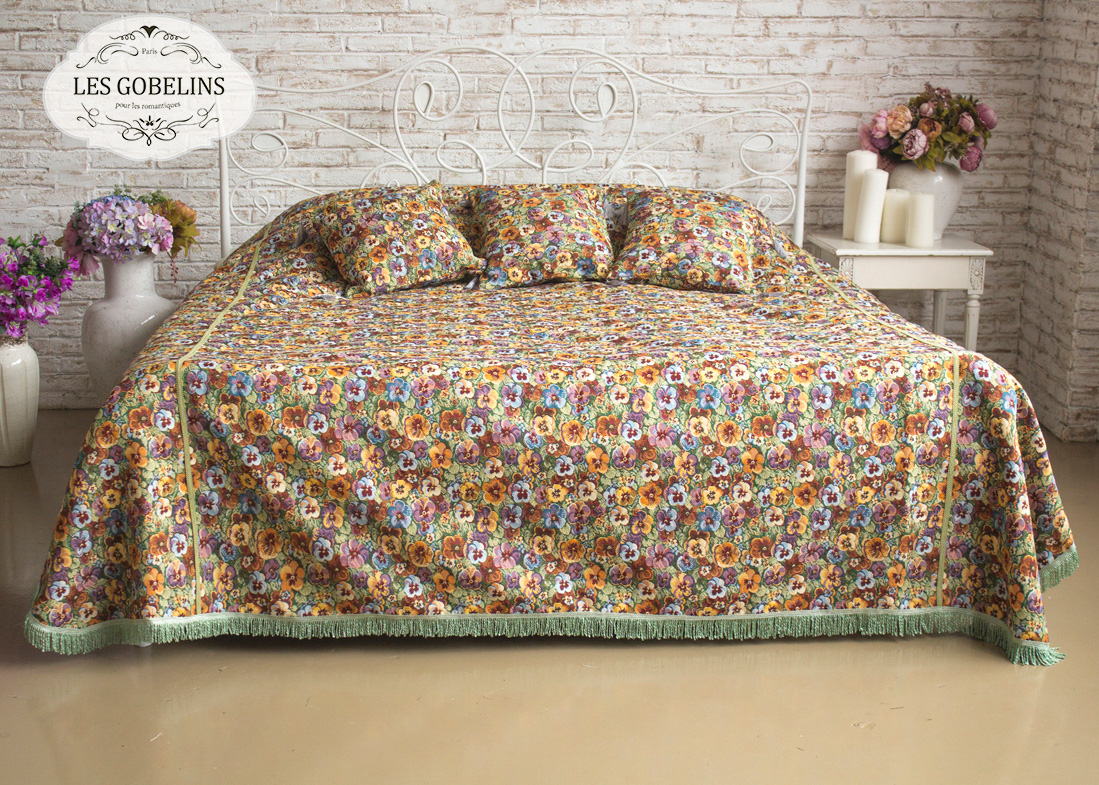 где купить Покрывало Les Gobelins Покрывало на кровать Fleurs De Jardin (260х240 см) по лучшей цене