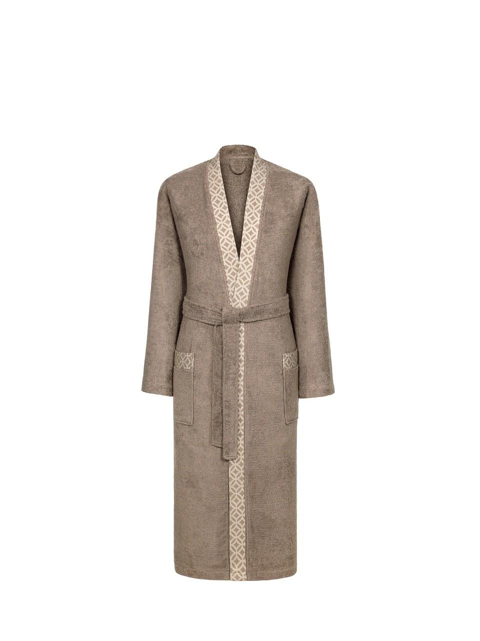 Сауны, бани и оборудование CLASSIC by T Халат Милан Цвет: Коричневый (xxL) купить шелковый халат мужской спб