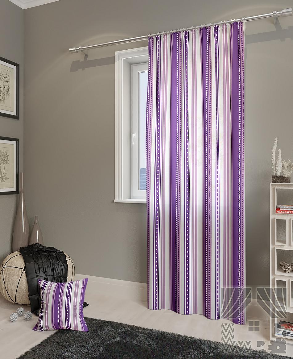 Шторы ТомДом Классические шторы Девон-П Цвет: Фиолетовый