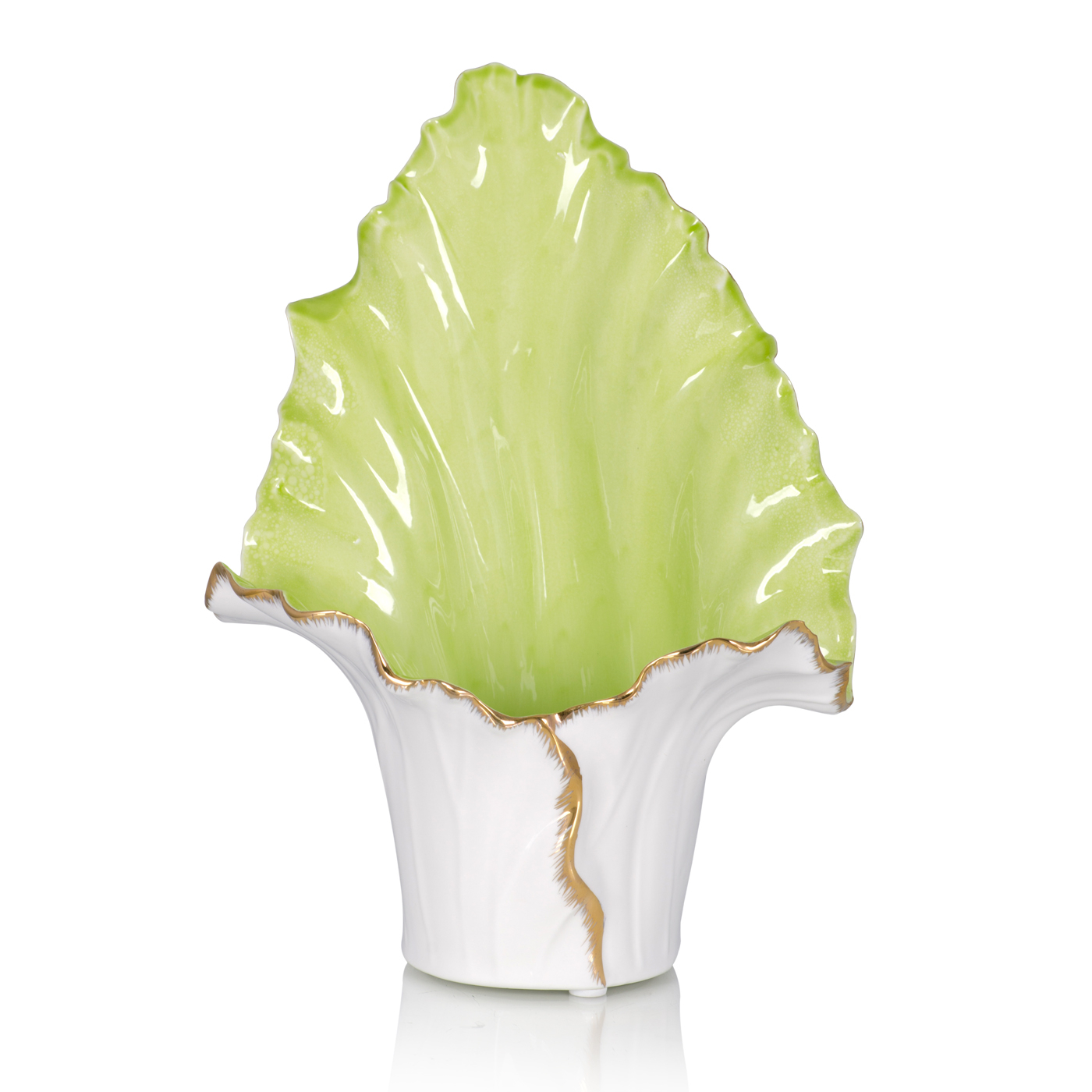 {} Home Philosophy Ваза Lettuce Цвет: Салатовый-Белый (16х25х37 см) home philosophy ваза mariana цвет молочный набор