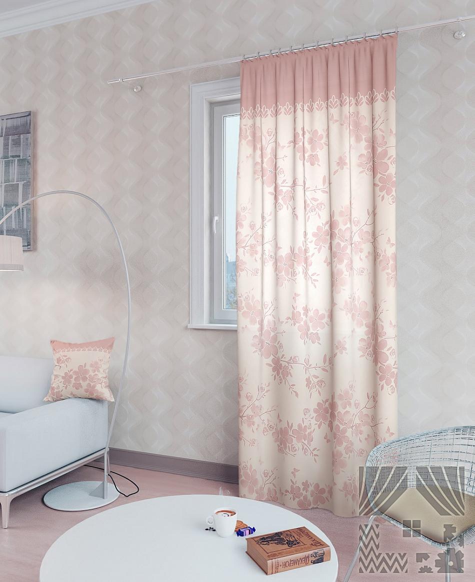 Шторы ТомДом Классические шторы Вивида-П Цвет: Розовый