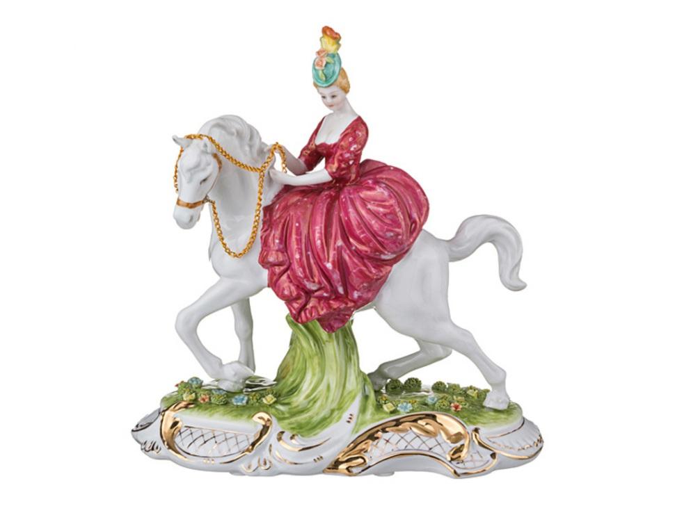 {} Lefard Статуэтка Дама на Лошади (12х24х26 см) статуэтка арти м 37 см дама 50 029