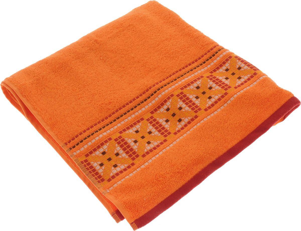 где купить Полотенца Soavita Полотенце Star Цвет: Оранжевый (70х140 см) по лучшей цене