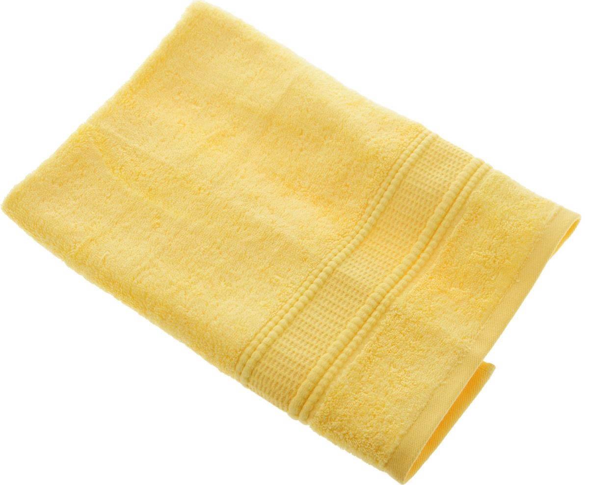 где купить Полотенца Soavita Полотенце Гладь Цвет: Желтый (50х70 см) по лучшей цене