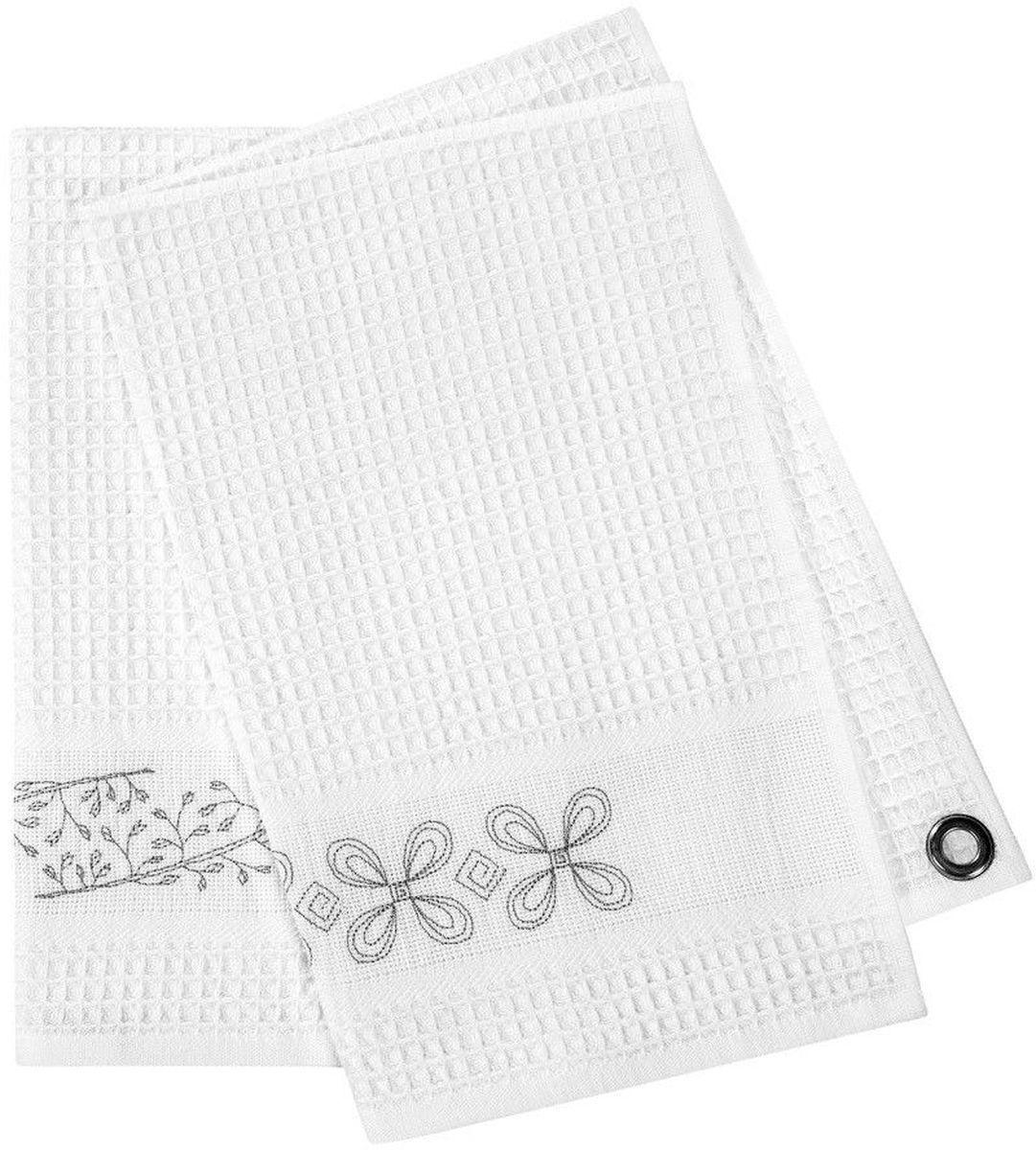 где купить {} Togas Кухонное полотенце Пастораль Цвет: Белый (45х70 см - 2 шт) по лучшей цене