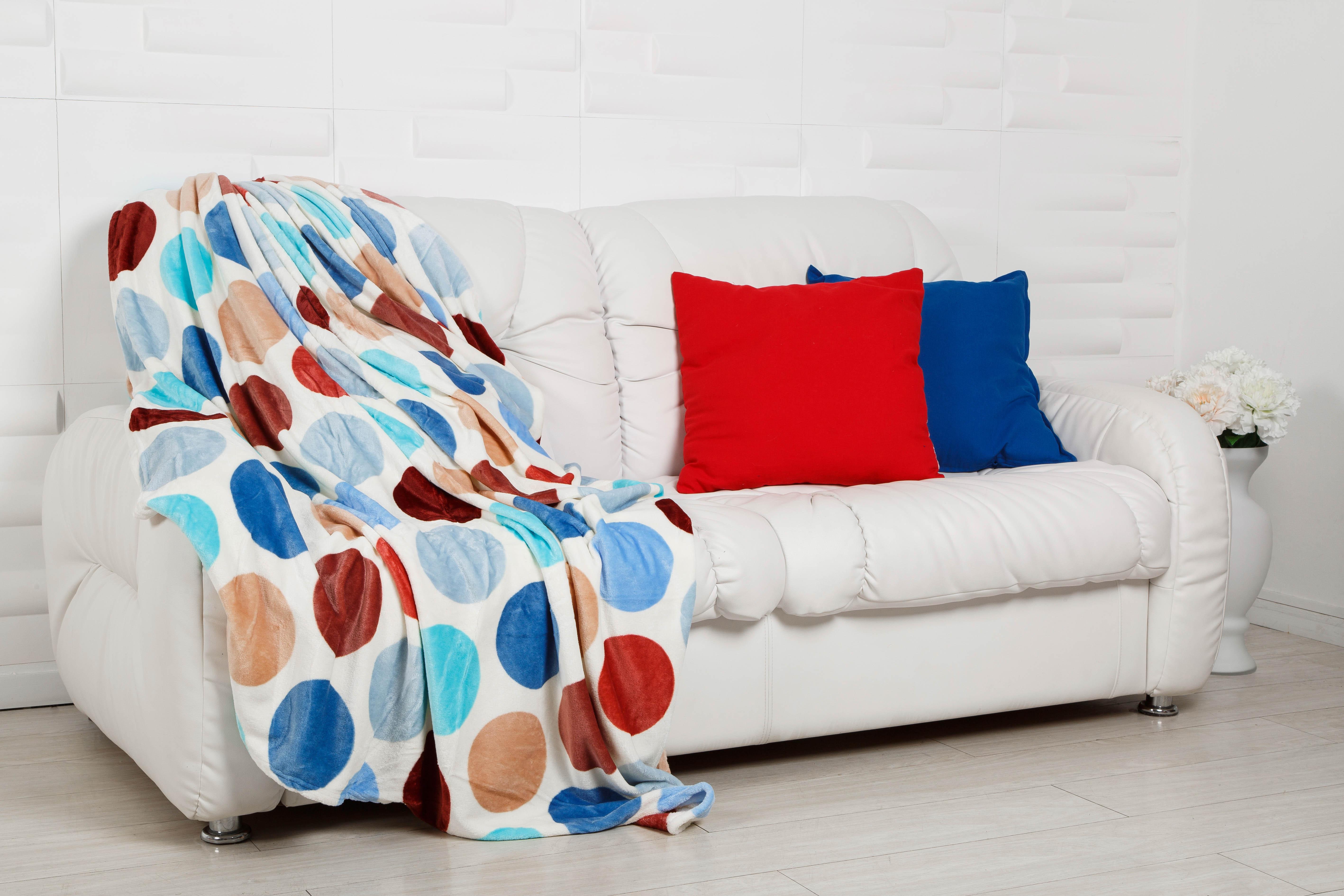 Плед HONGDA TEXTILE Плед Орнамент Цвет: Гороховый Светофор (180х200 см) пледы hongda textile лань ворсистый плед 270 г м2