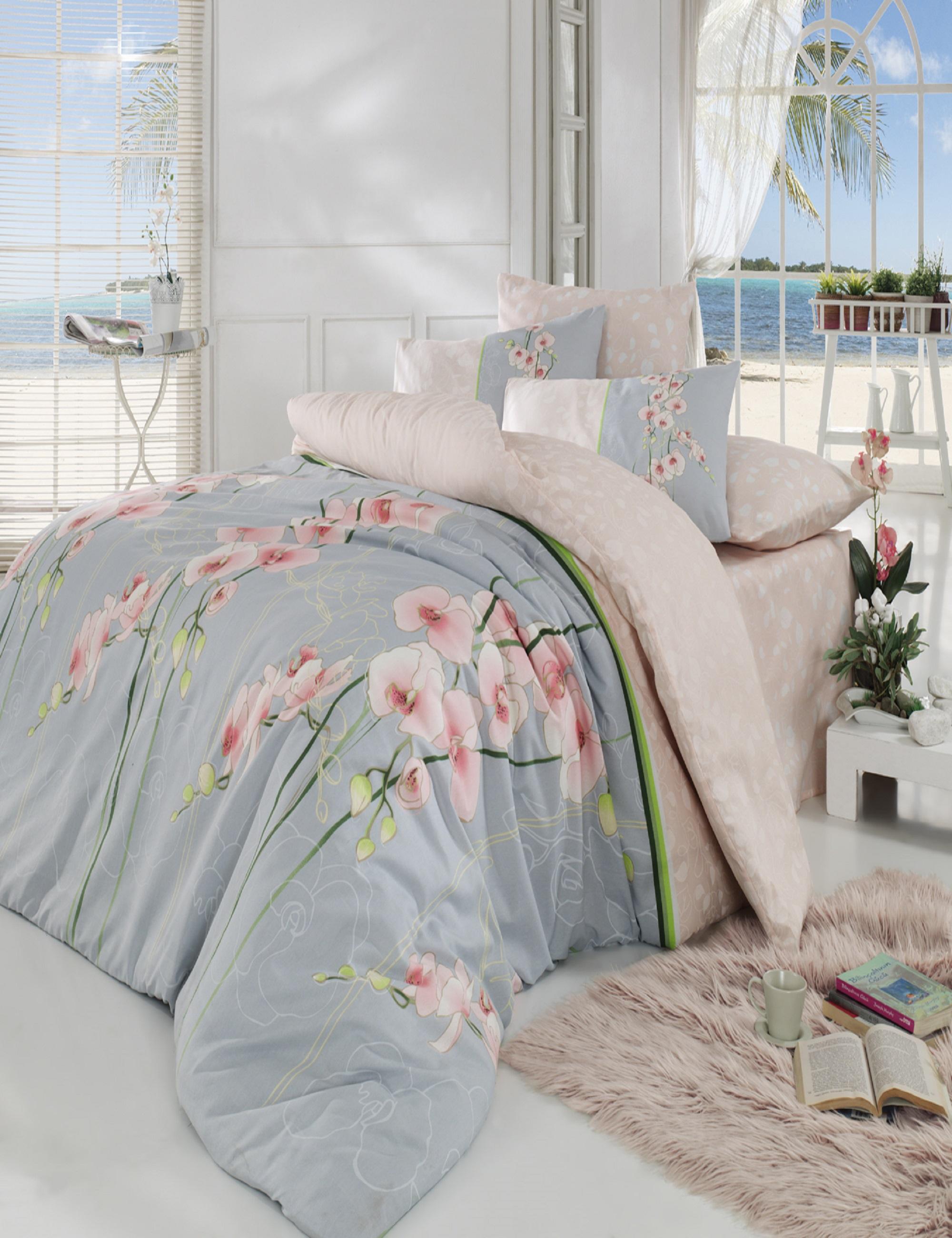 Постельное белье Cotton Life Постельное белье Orkide Цвет: Персиковый (2 сп. евро) cotton life постельное белье patchwork цвет красный 1 5 спал