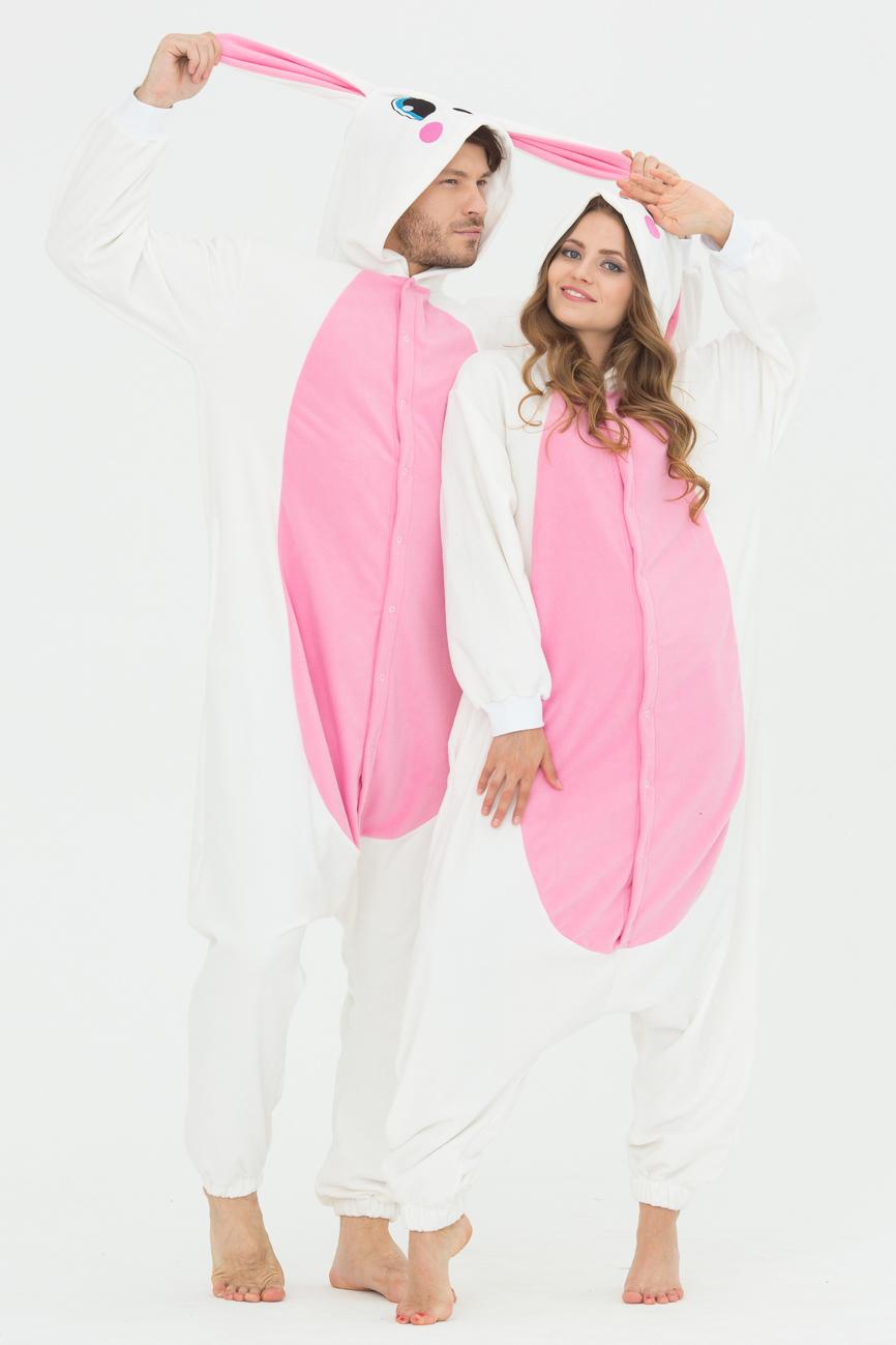 Пижамы Футужама Пижама-кигуруми Заяц Розовый (L)