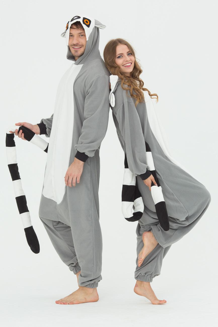 Пижамы Футужама Пижама-кигуруми Лемур (M) пижамы футужама пижама кигуруми тигр xs