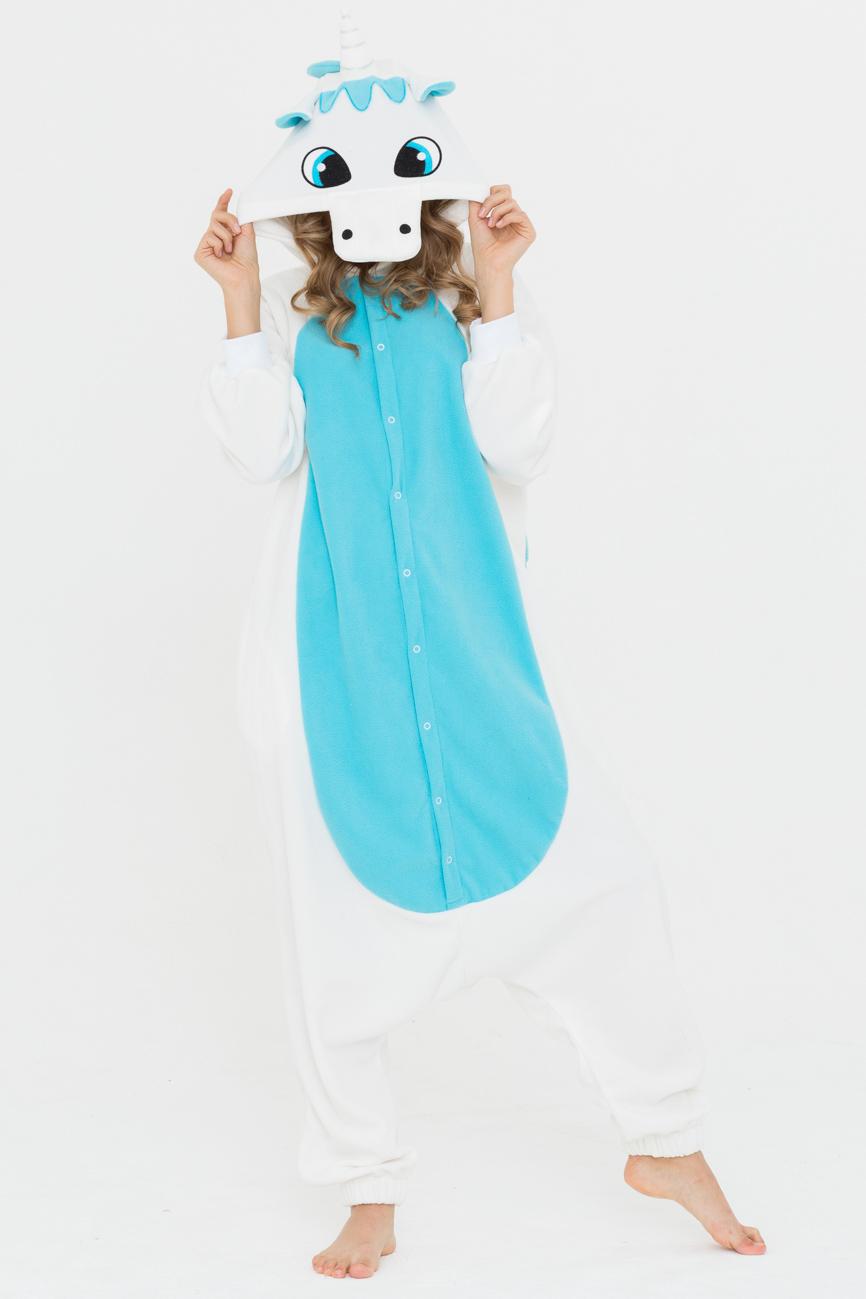 Пижамы Футужама Пижама-кигуруми Единорог Голубой (L)
