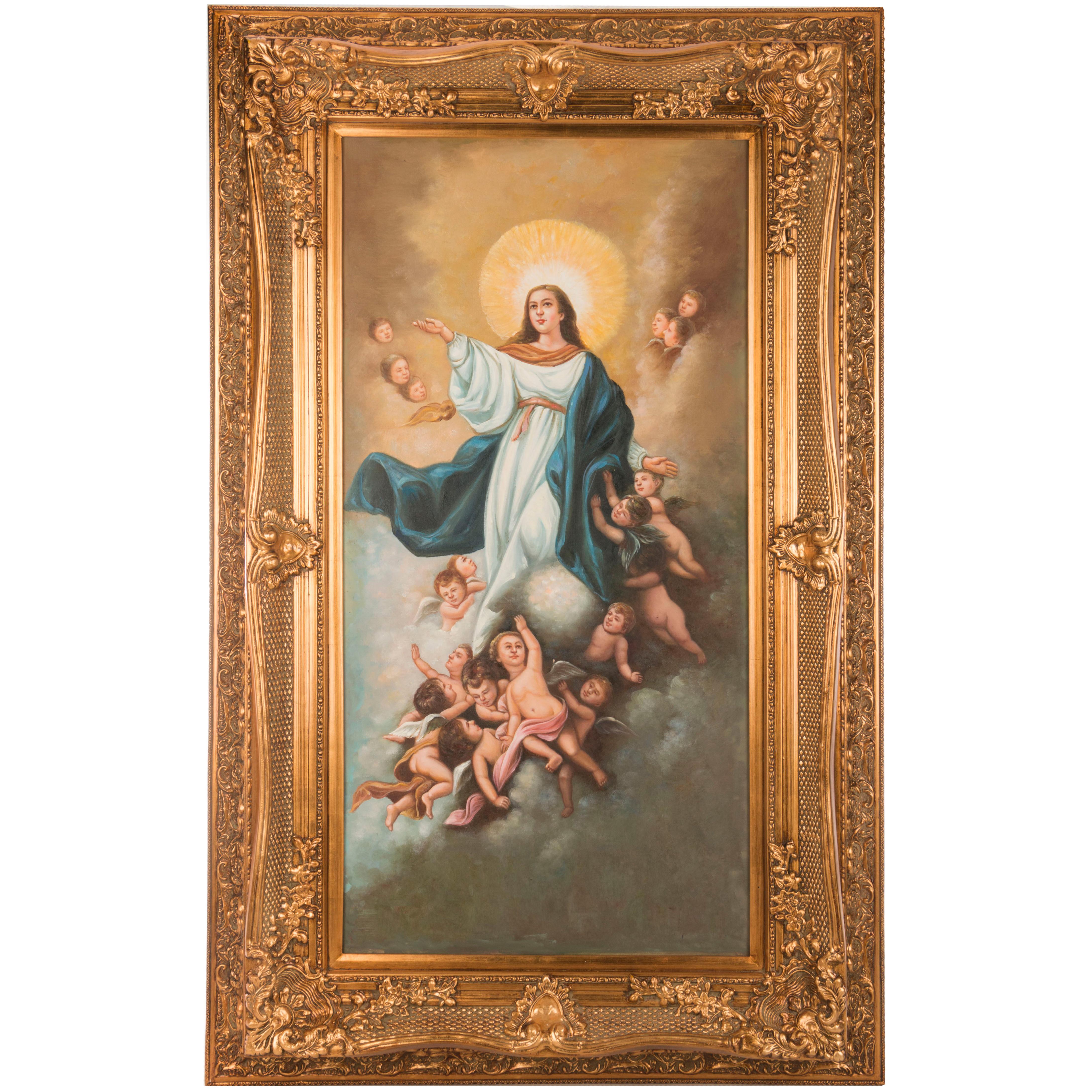 {} Frame Factory Картина Дева Мария (101х162 см) frame factory картина wayland 79х89 см