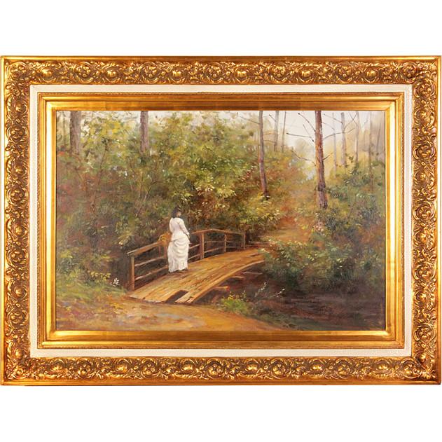 {} Frame Factory Картина На Мосту (88х118 см) случай на мосту через совиный ручей