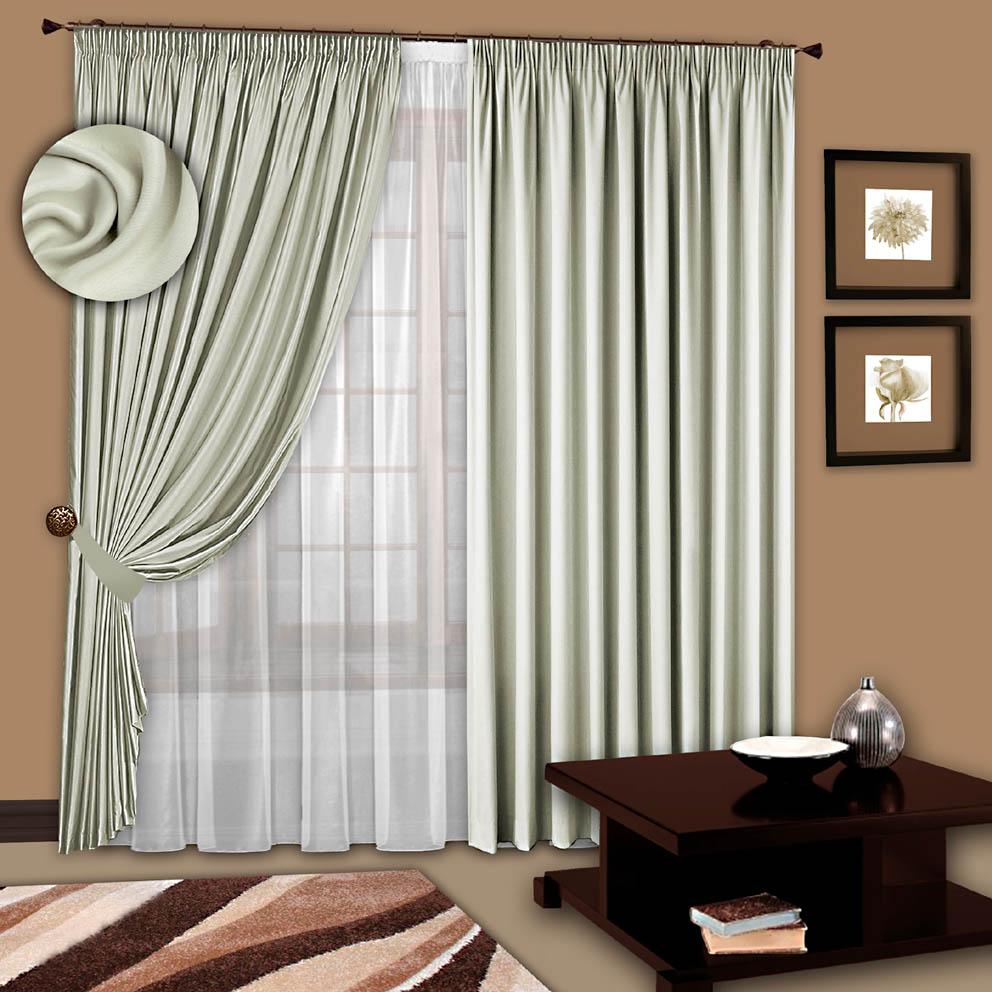 Шторы РеалТекс Классические шторы Chantalle Цвет: Сливочный шторы реалтекс классические шторы alberta цвет персиковый молочный