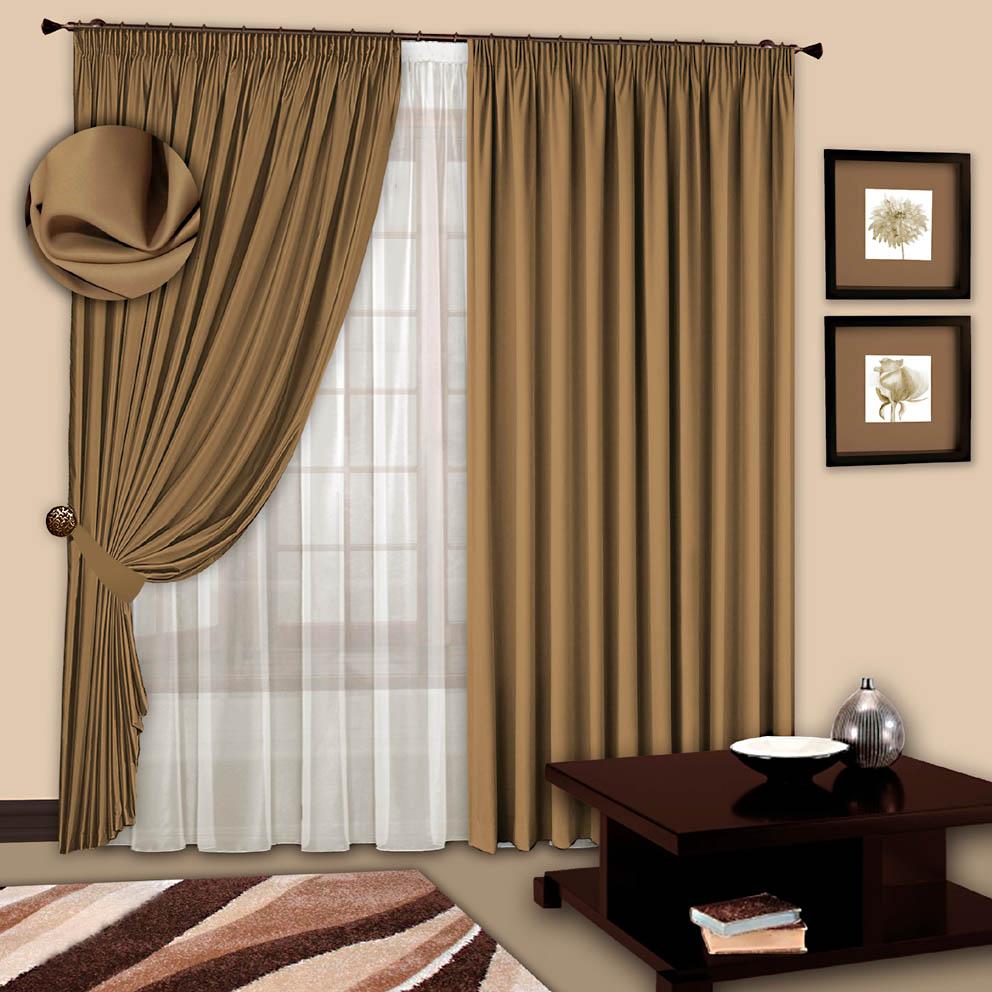 Шторы РеалТекс Классические шторы Chantalle Цвет: Темно-Бежевый шторы реалтекс классические шторы alberta цвет персиковый молочный