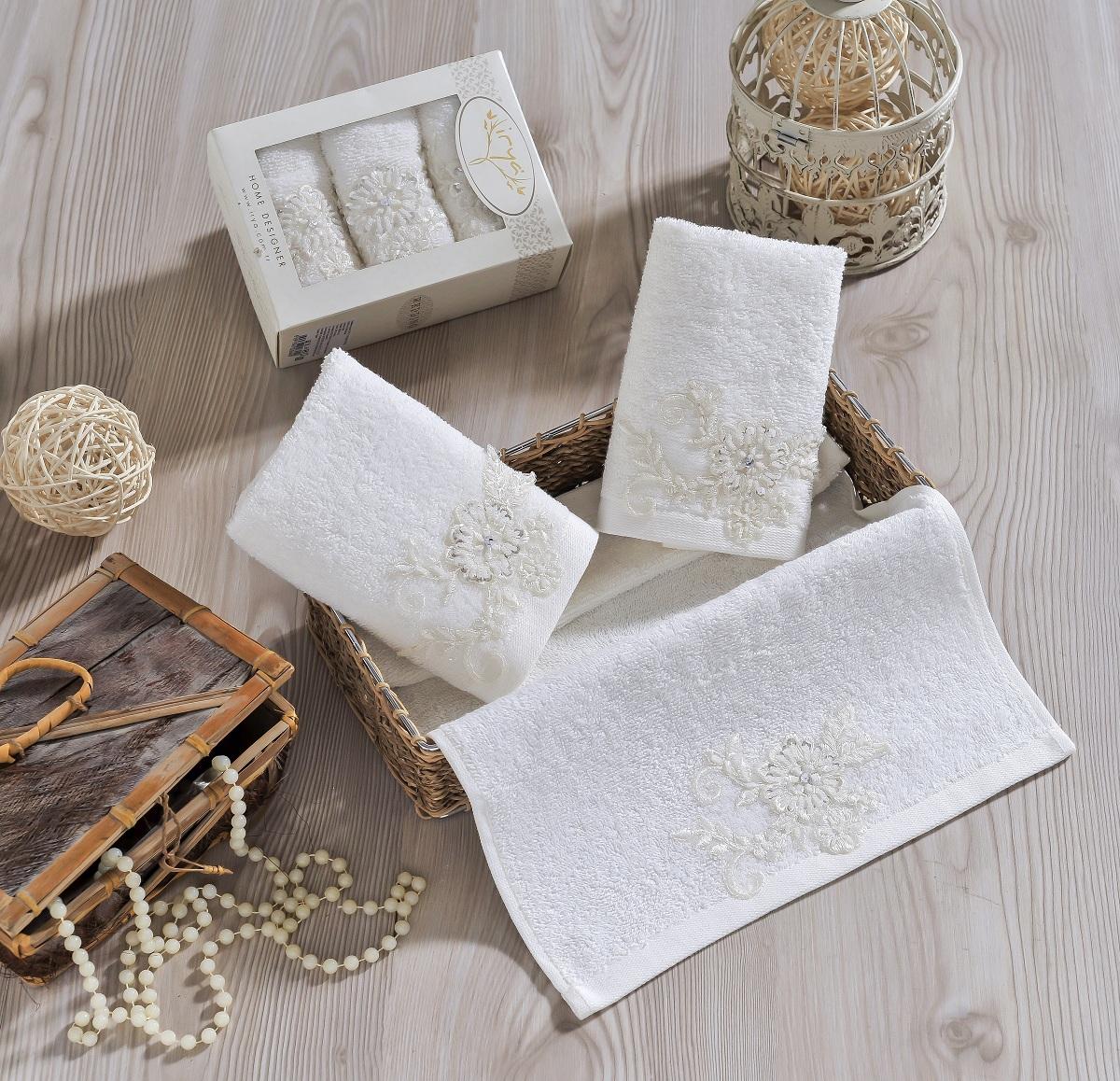 Полотенца IRYA Полотенце Actuel Цвет: Молочный (30х50 см - 3 шт) полотенца банные spasilk полотенце 3 шт