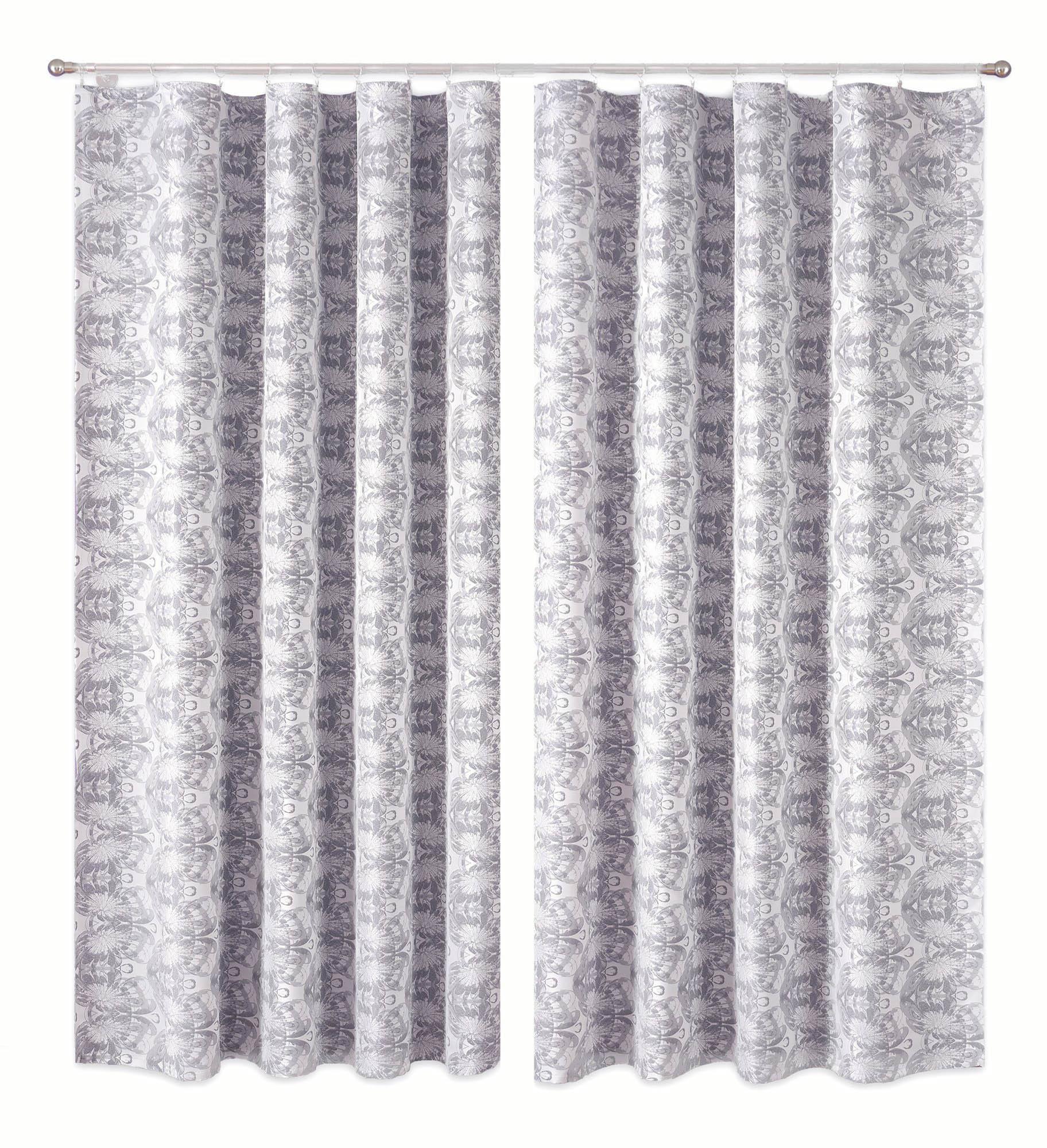 Шторы Primavera Классические шторы Abihail Цвет: Серо-Белый шторы primavera классические шторы didi цвет белый