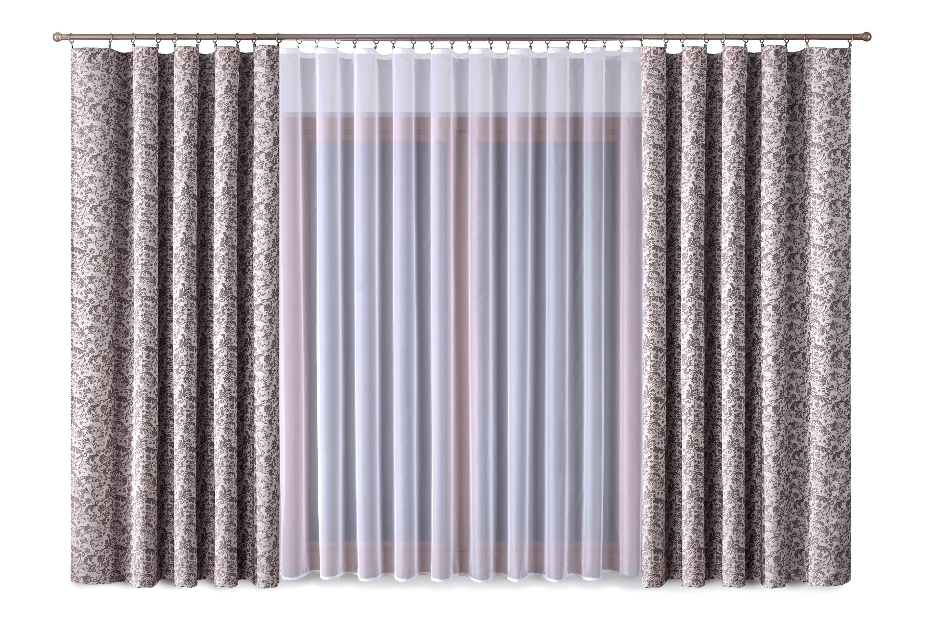 Шторы Primavera Классические шторы Posy Цвет: Коричневый-Белый шторы primavera классические шторы maev цвет салатовый