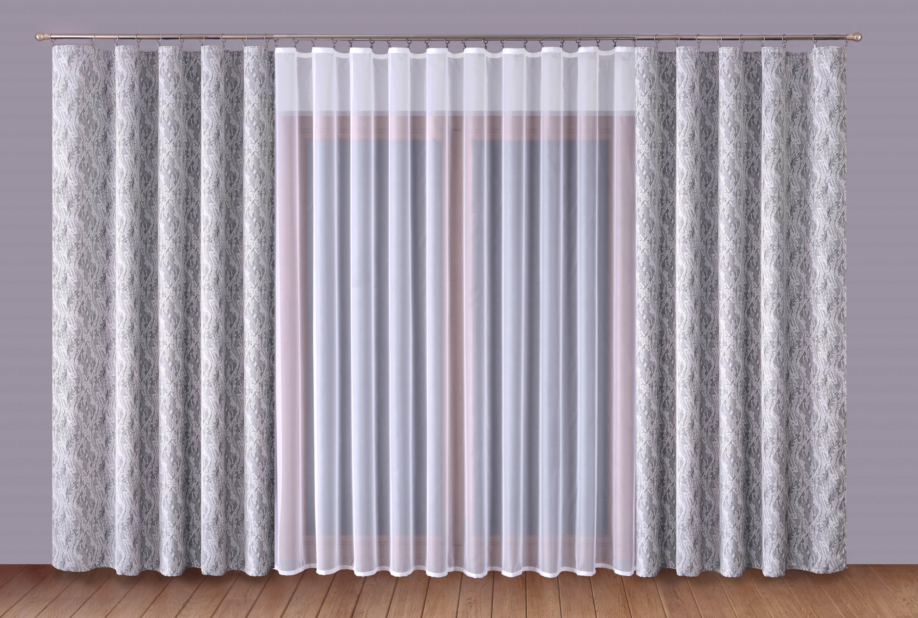 Шторы Primavera Классические шторы Carrol Цвет: Серый-Белый шторы primavera классические шторы maev цвет белый