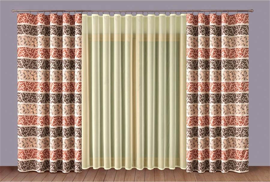 Шторы Primavera Классические шторы Alicia Цвет: Терракотовый-Кремовый шторы primavera классические шторы luvinia цвет кремовый