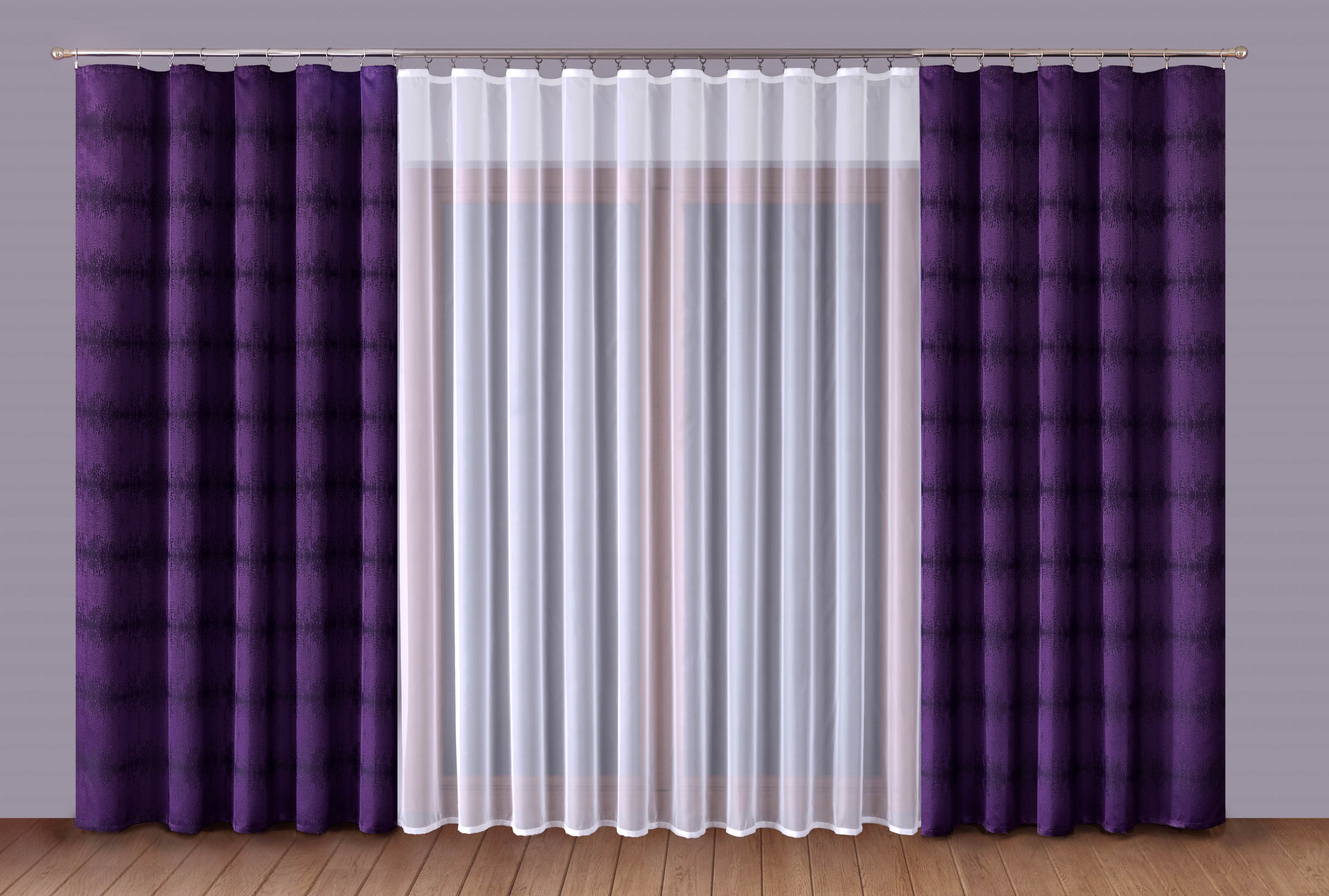 Шторы Primavera Классические шторы Caroline Цвет: Сиреневый-Белый шторы primavera классические шторы didi цвет белый