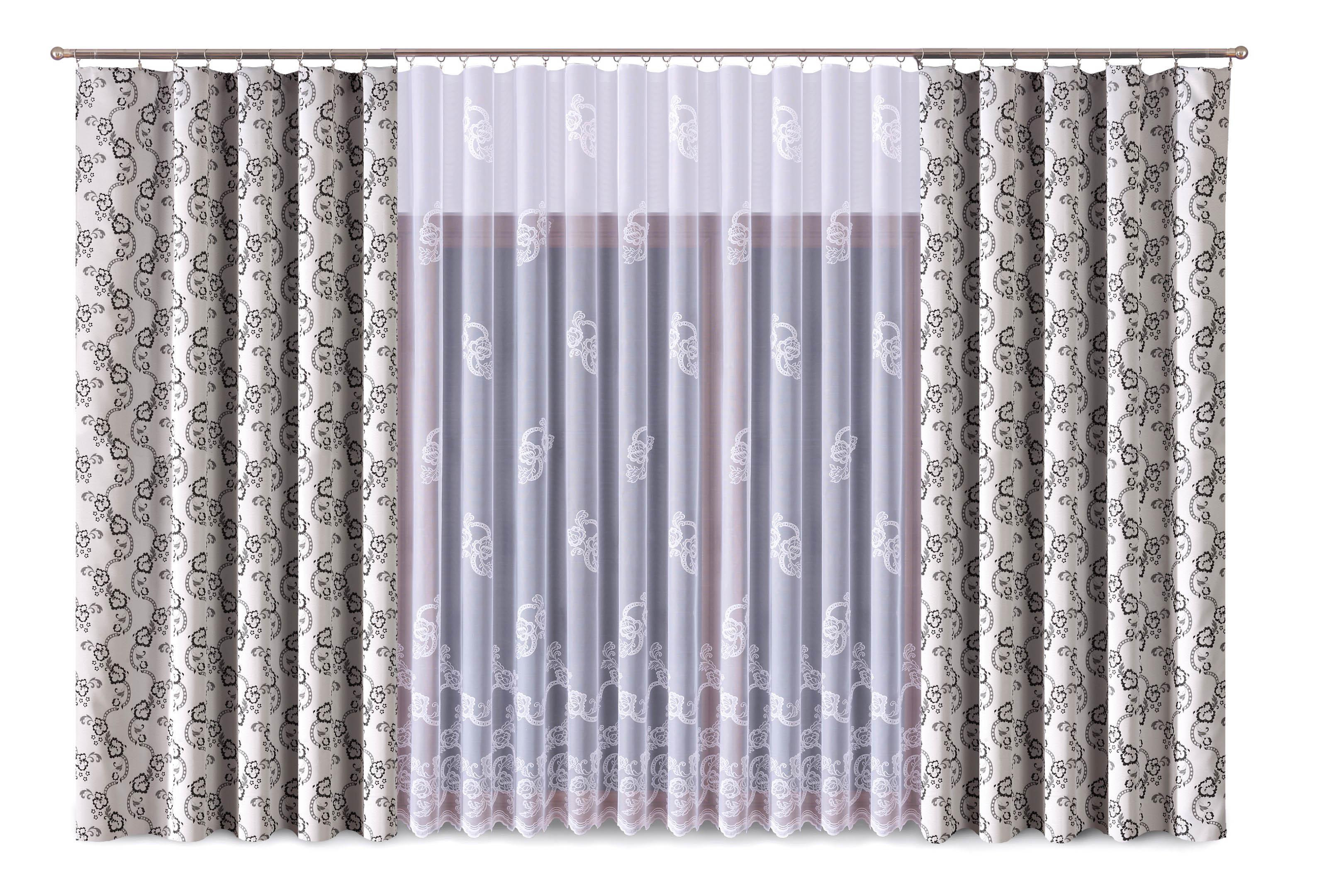 Шторы Primavera Классические шторы Zechariah Цвет: Серый-Белый шторы primavera классические шторы didi цвет белый