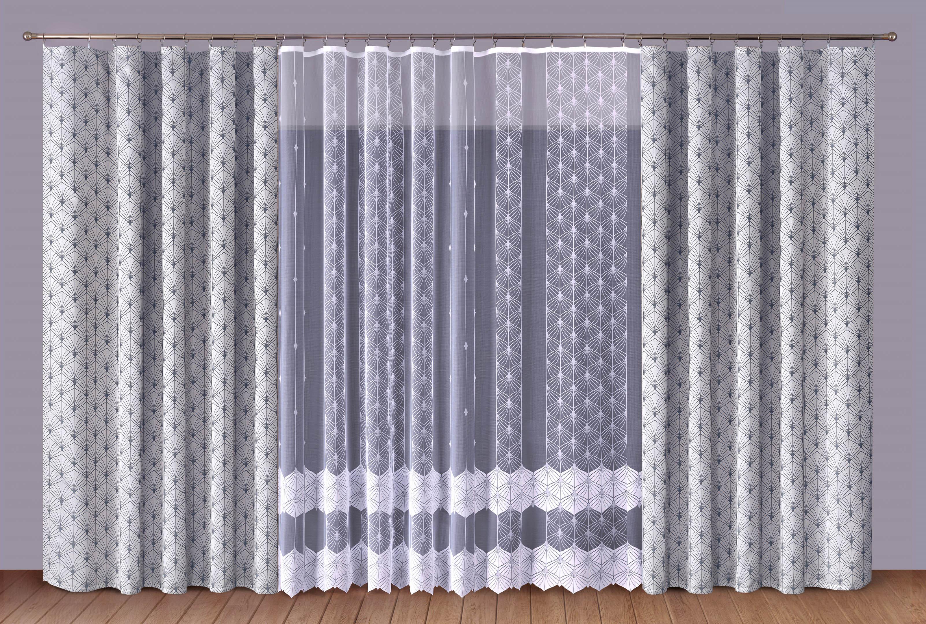Шторы Primavera Классические шторы Albertine Цвет: Серый-Белый шторы primavera классические шторы maev цвет персиковый