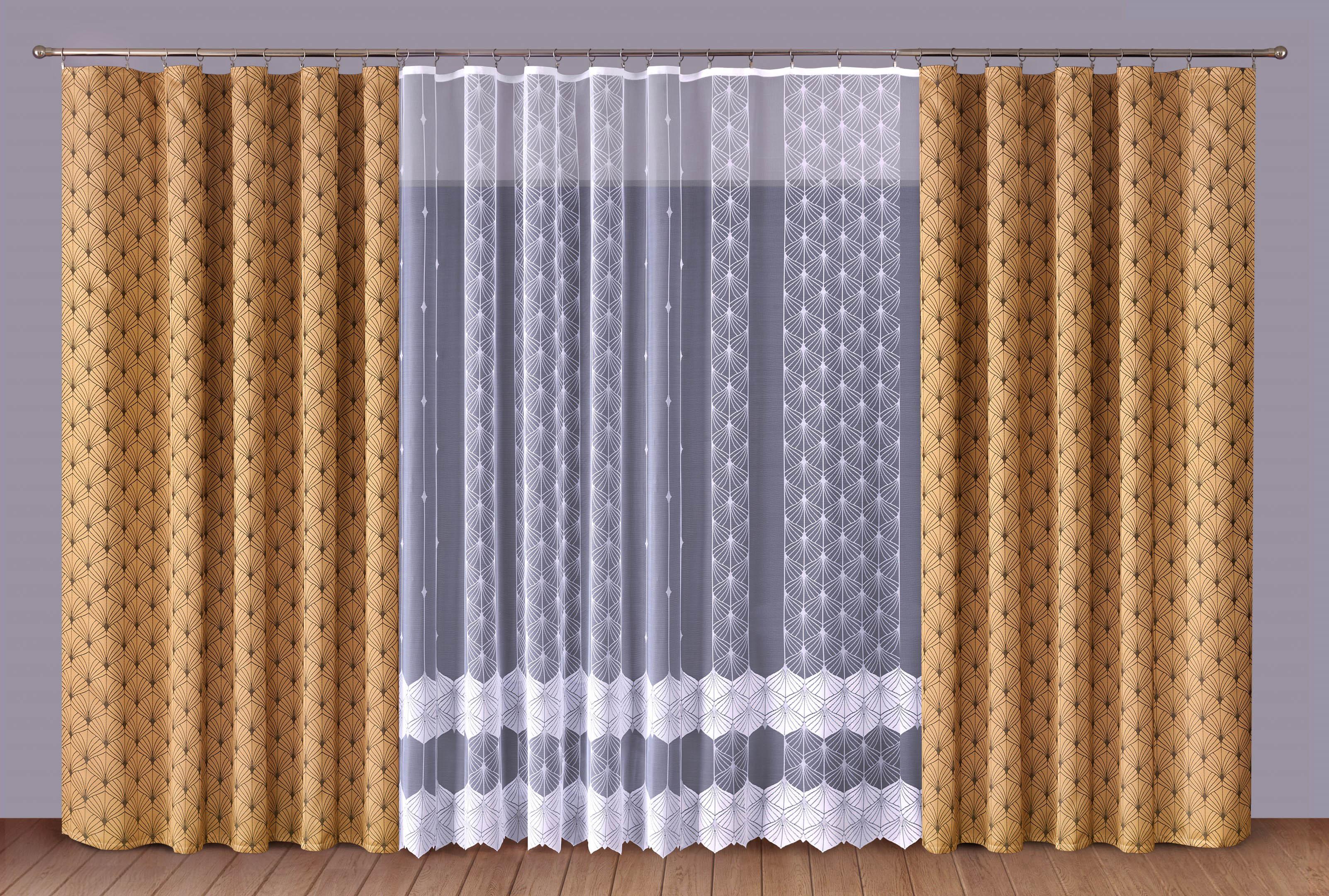 Шторы Primavera Классические шторы Albertine Цвет: Коричневый-Белый шторы primavera классические шторы larry цвет белый