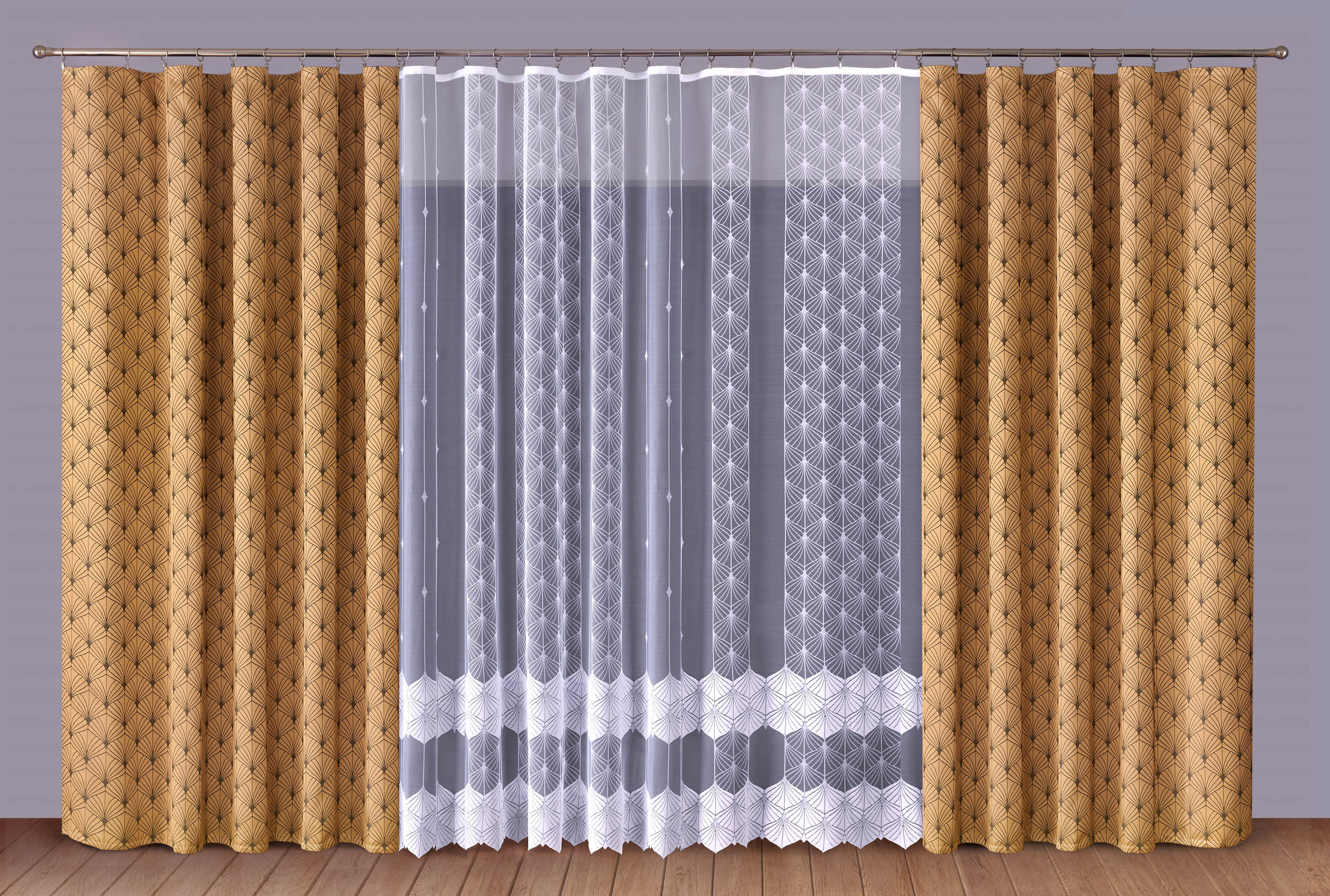 Шторы Primavera Классические шторы Albertine Цвет: Коричневый-Белый шторы kauffort классические шторы primavera st цвет оранжевый