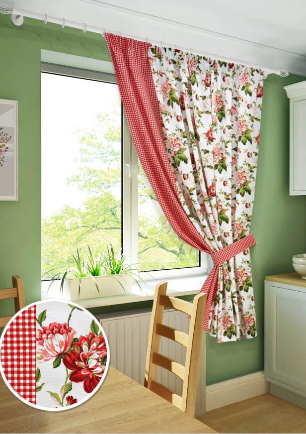 Шторы Kauffort Классические шторы Luly Цвет: Красный шторы kauffort классические шторы kimberly s цвет красный