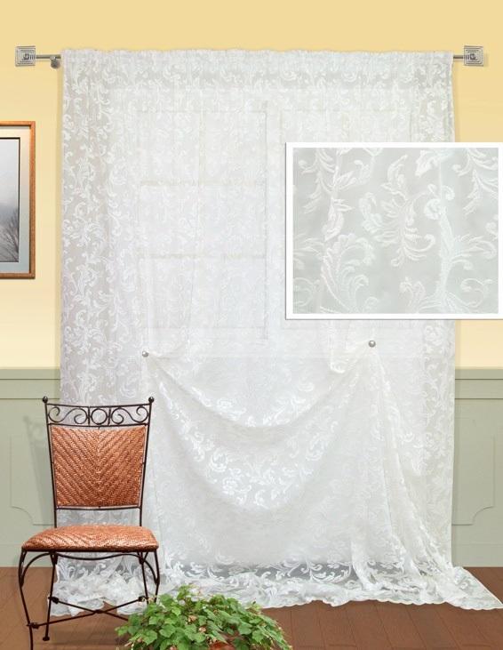 Шторы Kauffort Классические шторы Odetta - XL как тюль на окно