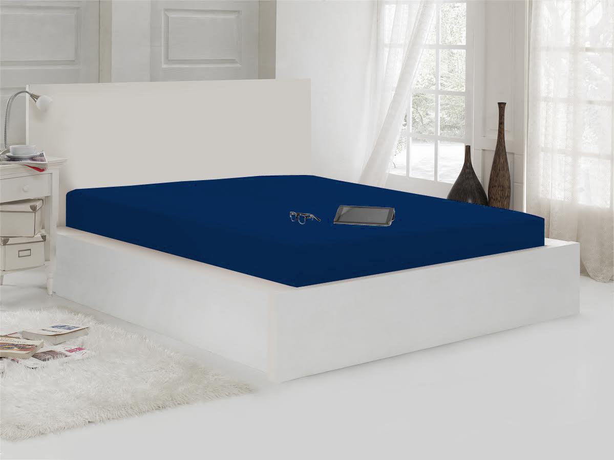 Простыни Karna Простыня на резинке Maxene Цвет: Синий (100х200) простыни candide простыня bamboo fitted sheet 130г м2 60x120 см